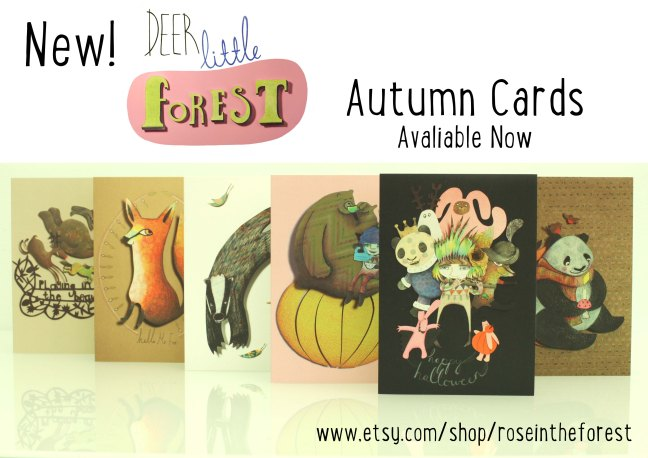 New Deer Little Forest Autumn Cards